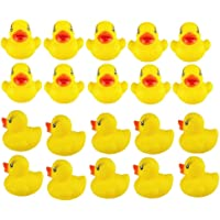 Little Yellow Duck, BIGBOBA 20/40/60 PCS Toys Mini Yellow Ducks Squeaky Rubber Cute Bath Beach Toy Bath Duck Cute…