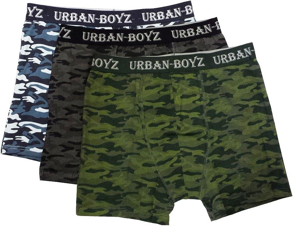 Men/'s URBAN BOYZ Boxer Shorts Cotton Lycra Underwear Brief Trunk Shorts S-XL