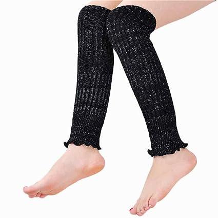 bovake mujeres invierno Calcetines Por Encima De La Rodilla de la pierna más cálido crochet de