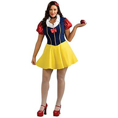 Amazon.com: Snow White Costume - Plus Size - Dress Size Up to 18 ...