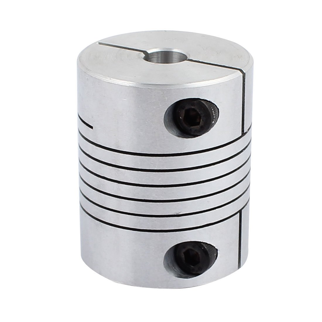 uxcell 8mm to 16mm Shaft Coupling 40mm Length 32mm Diameter Stepper Motor Coupler Aluminum Alloy Joint Connector for 3D Printer CNC Machine DIY Encoder