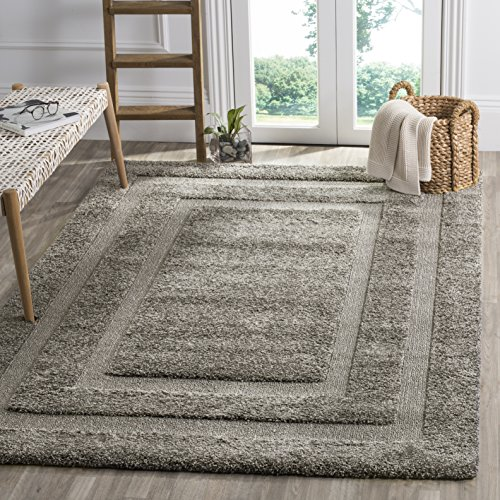 Safavieh Shadow Box Shag Collection SG454-8080 Grey Area Rug (5'3