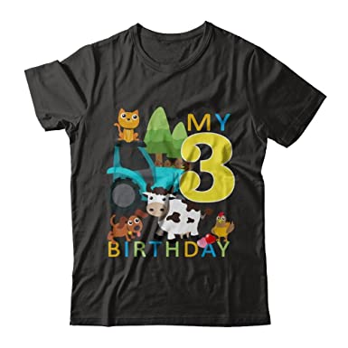Teely Shop Women s Woman s Happy Birthday s Kids 3 Year Old Next Level -  Unisex Fitted Tee 82d4d5f17
