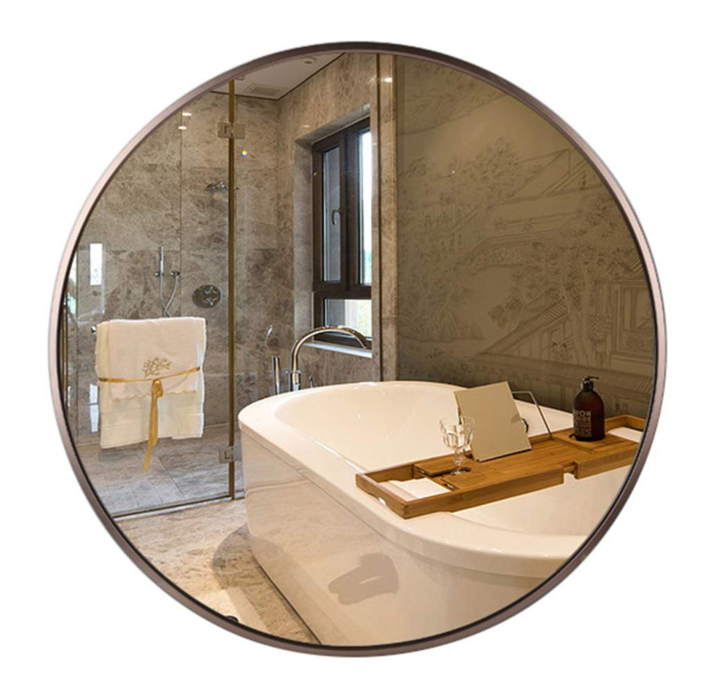 50cm Round Makeup Mirrors Wall-Mounted Metal Frame Vanity Bathroom Shaving Dressing Bedroom Hallway Living Room Decorative Quality Glass (11.8inch-31.5 inch)