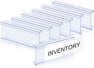 Lenink 30Pcs Plastic Wire Shelf Label Holders Compatible with Metro and Nexel 1-1/4in Shelves,Label Area 3in Lx1.25in H