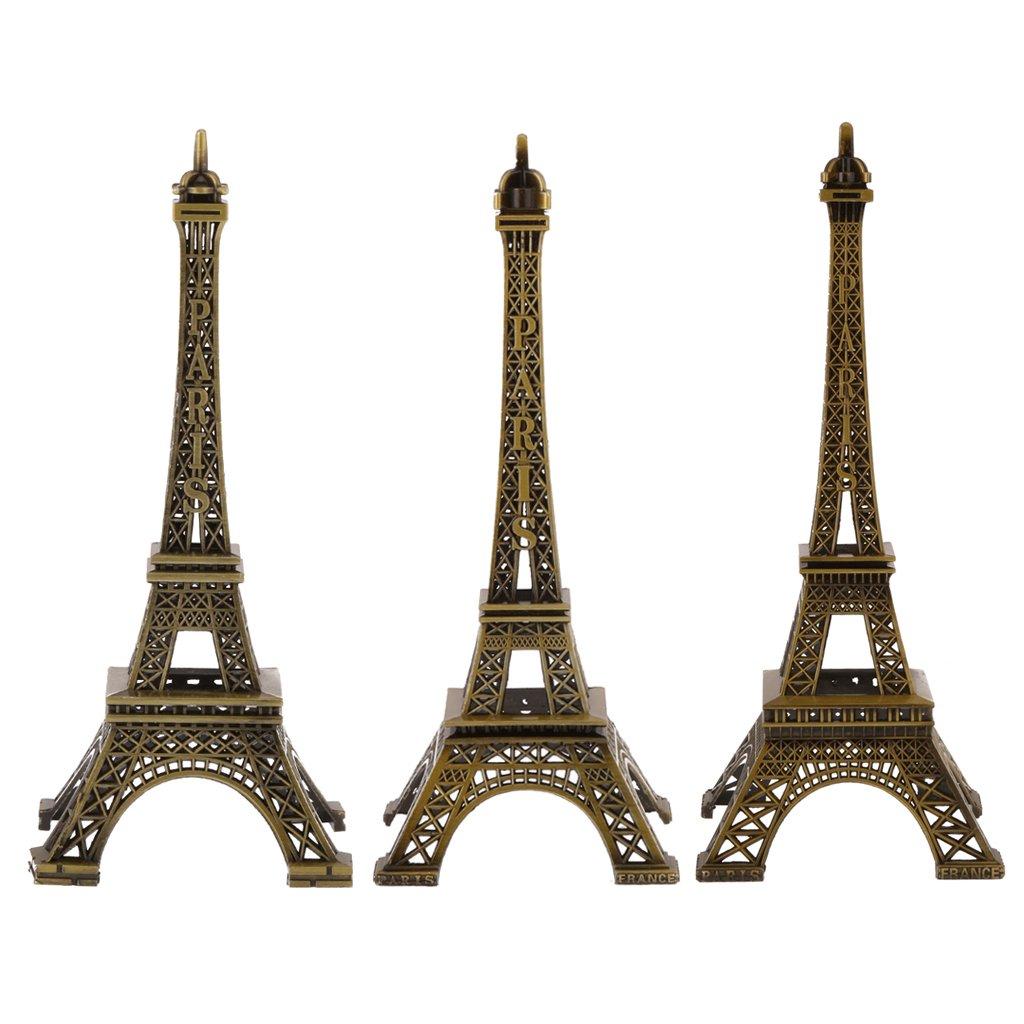 LOVIVER R/étro Paris Tour Eiffel Design Statue Figurine M/étallique Souvenirs D/écoration Bureau Maison H/ôtel Caf/é 15cm