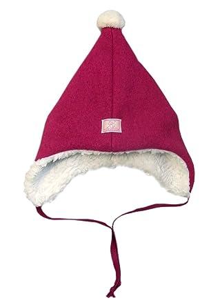 d1bdabf8072 Pickapooh Hat 100% Merino Wool Boiled Plush Baby Boy Girl Children Pompon  Winter Earflap Jim  Amazon.co.uk  Clothing