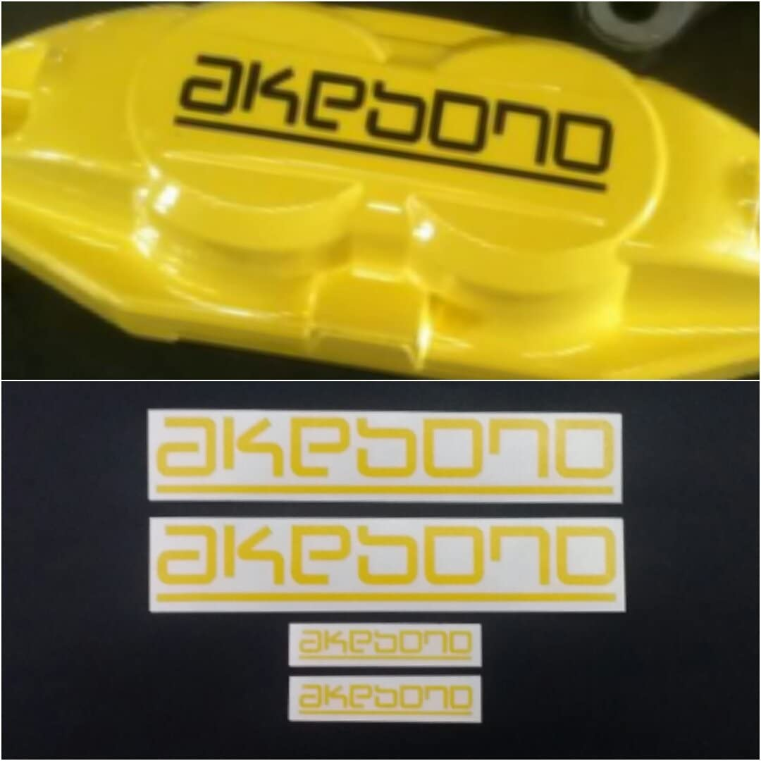 Black AKEBONO Brake Caliper HIGH TEMPERATURE Decal Sticker Set of 4