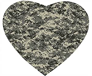 Army ACU Camouflage DIY heart-shaped Mouse Pad by Cases & Mousepads by icecream design