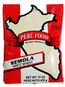 Peru Food Semola Gritz Wheat 15 Oz.