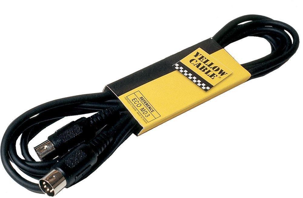 yellow cable - cables midi cordon midi 2 din 5 broches - 3m