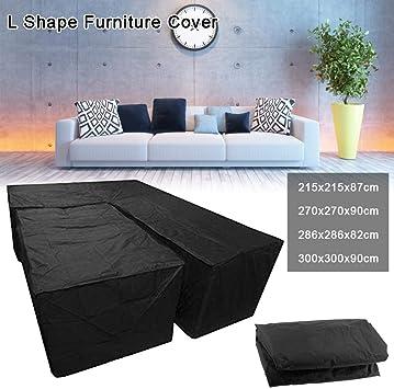 Funda de sofá en forma de L y funda de mesa, fundas protectoras ...