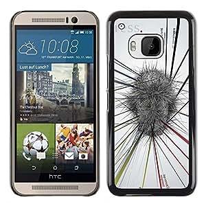 """For HTC One ( M9 ) Case , Resumen Mapa Mental Blanco Gris Estrés"""" - Diseño Patrón Teléfono Caso Cubierta Case Bumper Duro Protección Case Cover Funda"""