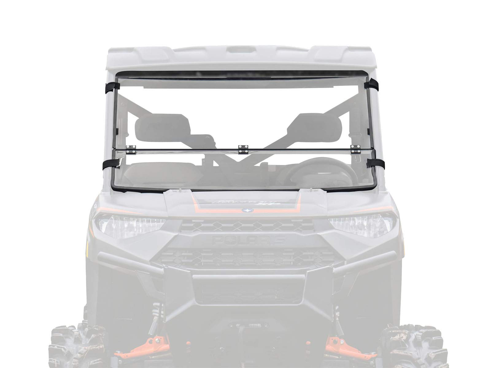 SuperATV Heavy Duty Flip/Fold Down 3-IN-1 Windshield for Polaris Ranger Full Size XP 900 / Crew (2013+) - Clear Scratch Resistant (Hard Coated) by SuperATV.com