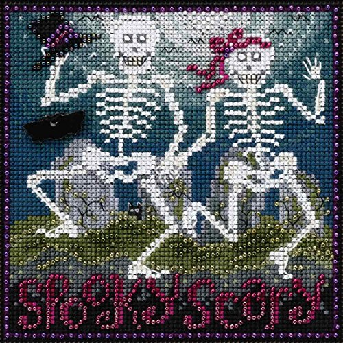 Spooky Scary Beaded Counted Cross Stitch Kit Mill Hill 2017 Buttons & Beads Autumn MH141723]()