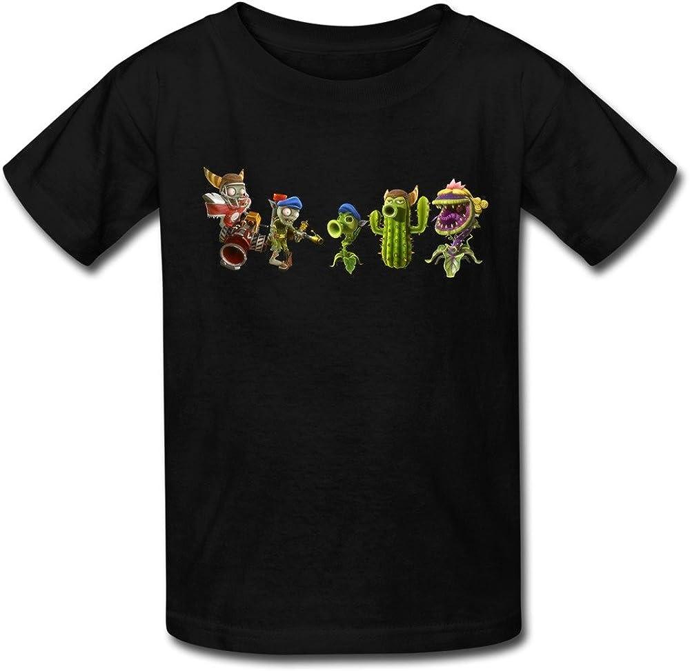 Kid's Sports Plants Vs. Zombies Garden Warfare T-shirts Size S Black