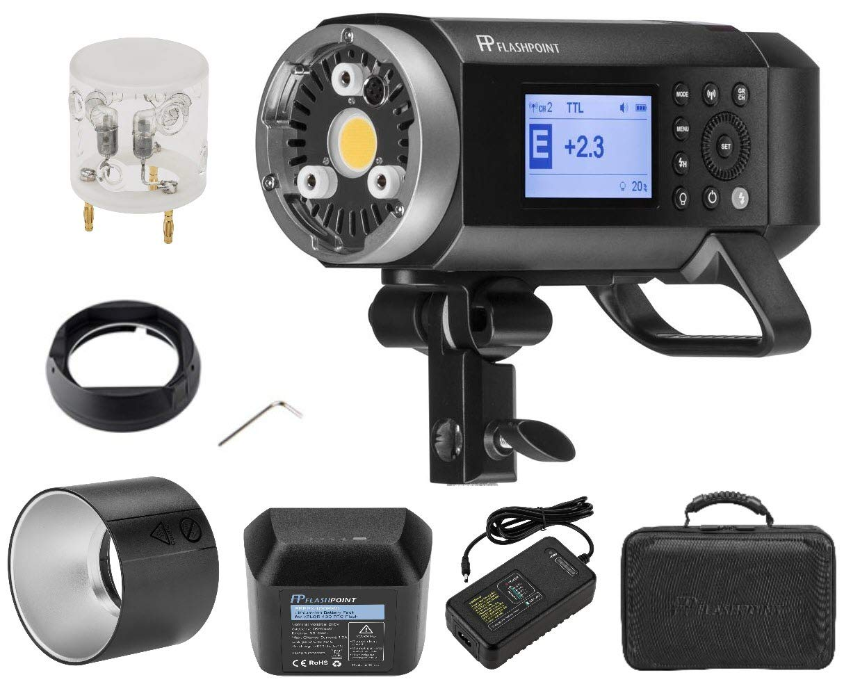 Flashpoint XPLOR 400PRO TTL Battery-Powered Monolight with Built-in R2 2.4GHz Radio Remote System (with Bowens Mount Adapter) - Godox AD400 Pro by Flashpoint (Image #2)
