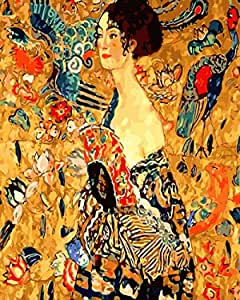 Classical Gustav Klimt The Kiss Propylene Paint By Numbers Kits For Adults DIY