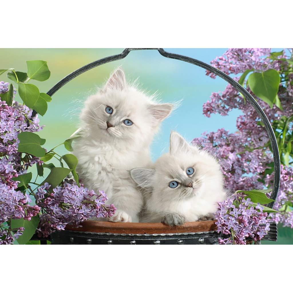 FEI HOME JapanesePT japanische glückliche Katzen-Karikatur, hölzernes Puzzle, sorgfältige Malerei des Kätzchens , feiner Schnitt u 19.3.23 (Farbe   C, größe   2000pc) B07NQ3G1P4 Puzzles Für Ihre Wahl | Gute Qualität
