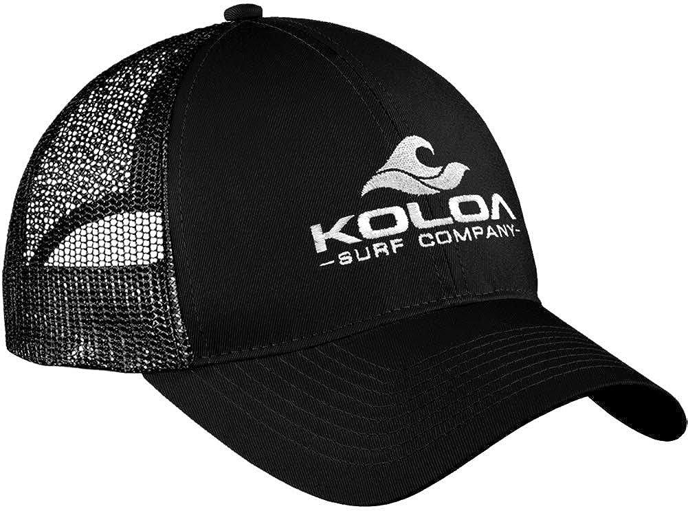 15092759051 Koloa Surf Wave Logo Old School Curved Bill Mesh Snapback Hat-Black Green  at Amazon Men s Clothing store