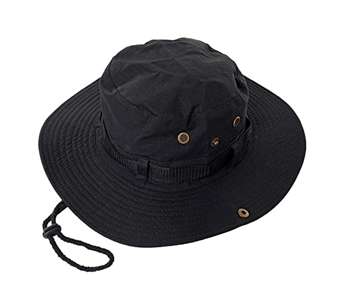 GAMT Outdoor Rain Hats Folding Waterproof Hat UV Protection Bucket Cap  Black at Amazon Men s Clothing store  def8be782ce