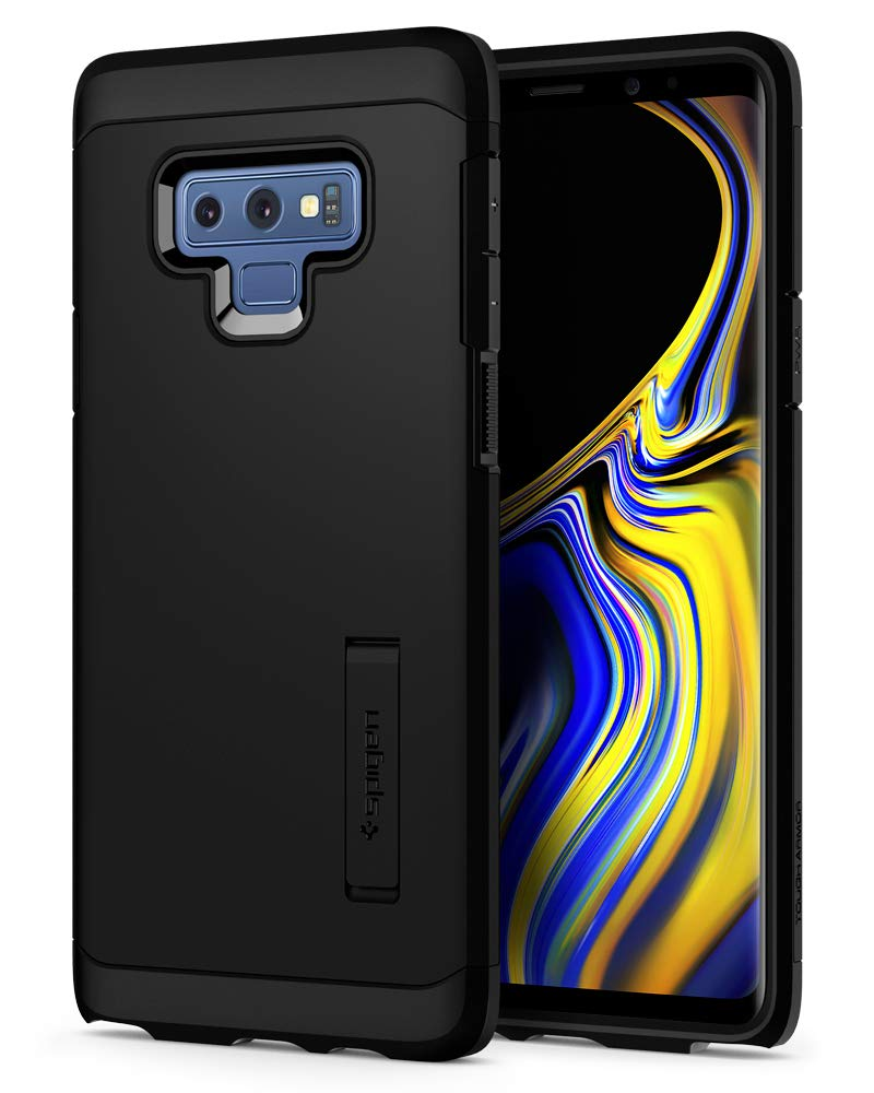 Spigen Tough Armor Galaxy Note 9 Case with Kickstand and Extreme Heavy Duty Protection and Air Cushion Technology for Samsung Galaxy Note 9 (2018) - Black