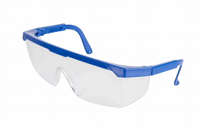 ADGO Anti-Salpicaduras Protección Ajustable Gafas de Trabajo de Seguridad Montura de Gafas de Bricolaje Lente Transparente Antirrayas Azul Translúcido (1)
