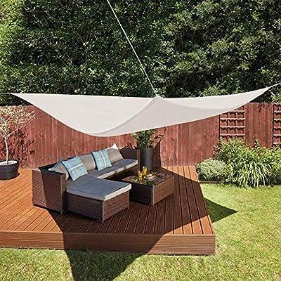 Tela de sombra al aire libre, Toldo, Jardín Triángulo Velas De Sombra, Impermeable Piscina Patio A Prueba De Viento Tasa De Sombreado 95% Fiesta 2x2x2m Sun Screen Shelter (Incluyendo Accesorios)Al Air: Amazon.es: