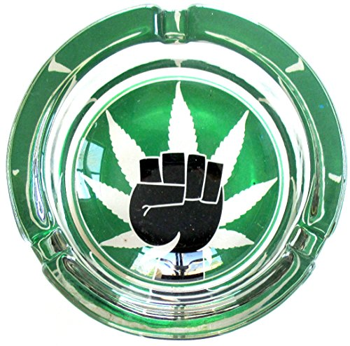 Weed-Power-Marijuana-Round-Glass-Ashtray