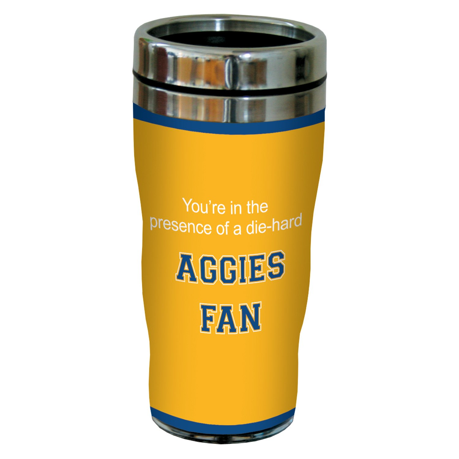 Tree-Free Greetings sg24814 Aggies College Basketball Sip 'N Go Stainless Steel Lined Travel Tumbler, 16 Ounce