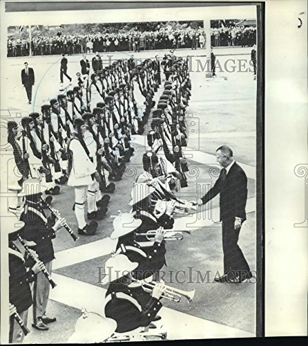 Historic Images 1971 Press Photo Vice President Spiro Agnew in Greece with Evzone honor guard - 9 x 8 in ()