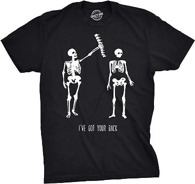 Amazon Com Mens Got Your Back Funny Halloween Skeleton Best Friend T Shirt Clothing