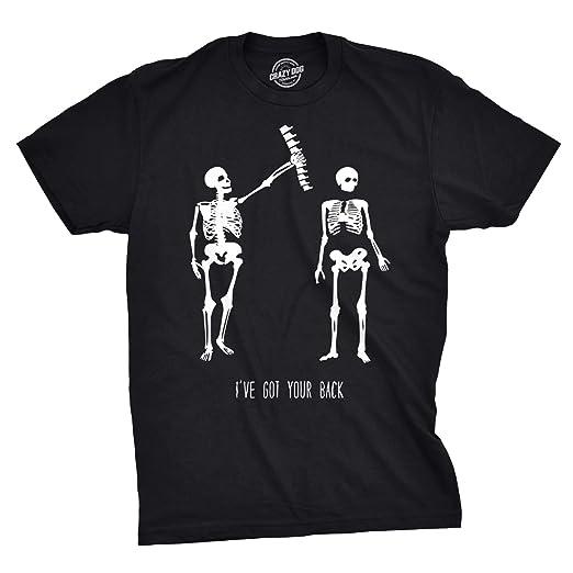 b61a65f562 Crazy Dog T-Shirts Mens Got Your Back Funny Skeleton Best Friend Halloween  T Shirt