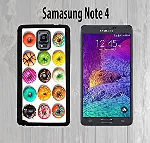 Dream Donuts Pattern Custom made Case or Cover skin FOR Samsung Galaxy Note 4 Black Case armase phoneiphone case...