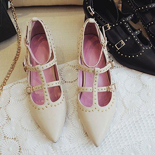 SHOESHAOGE Chaussures De Talon Ressort Avec Talons Talon Couleur unie zF4U7U9Qfq