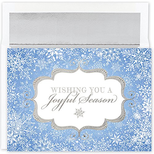 Great Papers! Holiday Greeting Card, Joyful Season, 18 Cards/18 Envelopes, 7.875