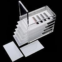 5 Strati di ciglio scatola di immagazzinaggio, custodia in plastica di gioielli contenitore gioielli trasparente,chiaro ciglio scatola di immagazzinaggio di trucco dell'organizzatore ciglia colla pal