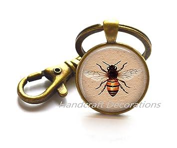 Amazon.com : Honey Bee Keychain -Bee Keychain -Bee Keychain ...