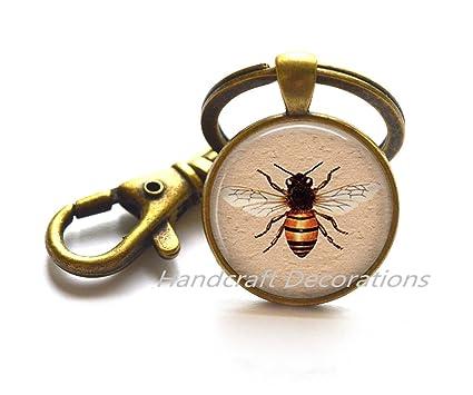 Miel Abeja llavero - Llavero, diseño de abeja - abeja abeja ...