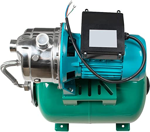 Shallow Well Jet Pump and Tank 1 HP 750W Shallow Well Pump with ...