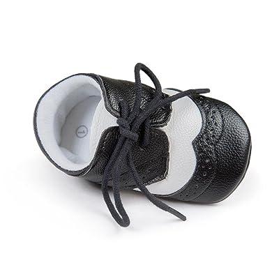 Fulltime® Bébé Garçon Fille Chaussures Semelles souples Toddler en cuir