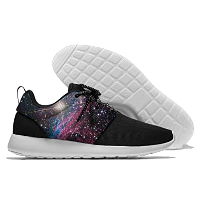 PIN Men's Beautiful Starry Sky Casual Sneakers Lightweight Athletic Tennis Walking Outdoor Sports Running Shoes