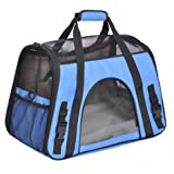 Soft Side Pet Carrier for Cats and Small Dogs, Comes with Shoulder Strap