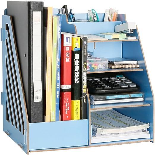yiliay Gran Capacidad mesa de madera organizador escritorio caja ...