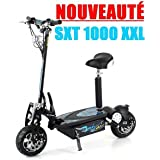 Trottinette électrique SXT Scooter 1000 XXL 1600w Brushless Noire Batterie plomb 48V 12Ah