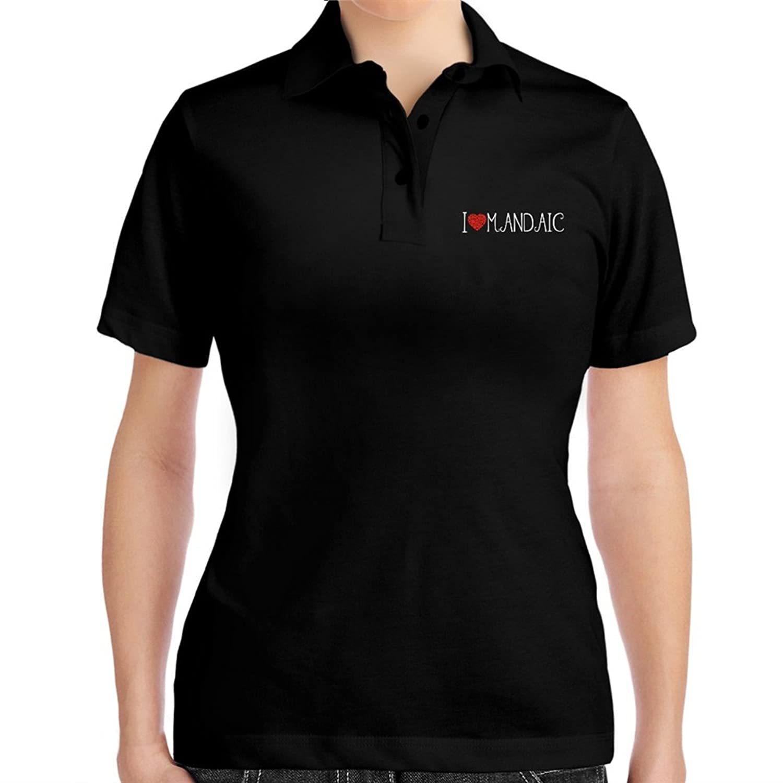 I love Mandaic cool style Women Polo Shirt
