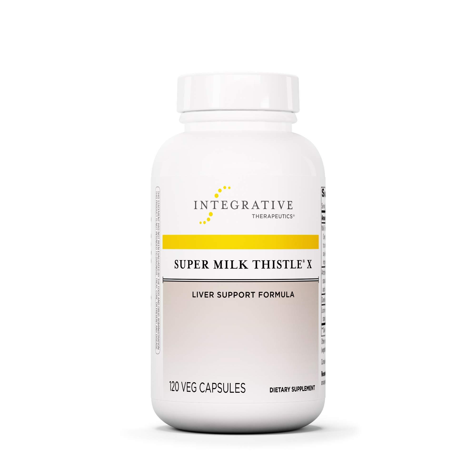 Integrative Therapeutics - Super Milk Thistle X - Liver Support Formula - Blended w/ Artichoke, Dandelion Lead, & Licorice Root Extracts - 120 Capsules