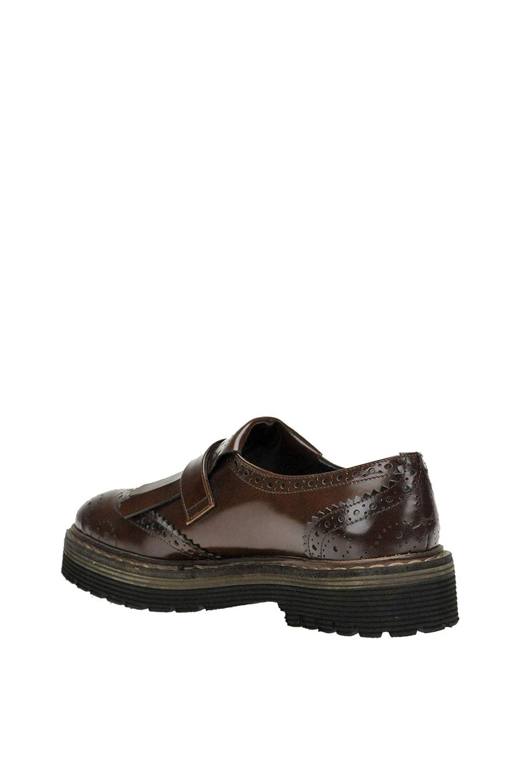 YOSH COLLECTION EZGL226002 Mujer Marrón Cuero Zapatos con Correa Correa Correa Monk 15f878