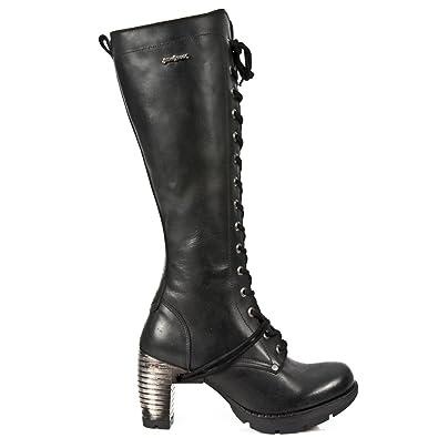 New Rock Boots M.TR005-S1 Gothic Hardrock Punk Damen Stiefel Schwarz, EU 43 New Rock