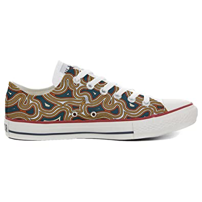 Converse All STar CUSTOMIZED  Sneaker Unisex printed Italian style Tribal Texture